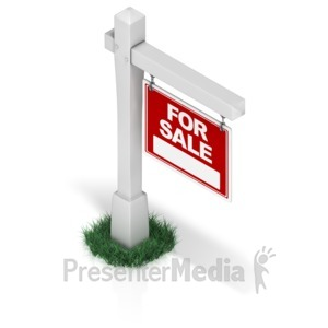 ID# 17325 - Real Estate Sign - Presentation Clipart