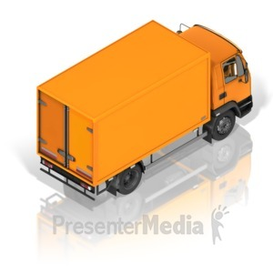 ID# 17335 - Delivery Truck Back - Presentation Clipart