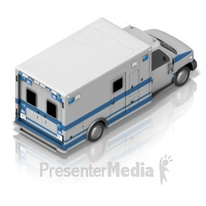 ID# 17357 - Ambulance Back Isometric - Presentation Clipart