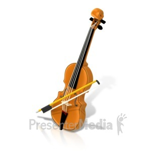 ID# 17361 - Music Violin Isometric - Presentation Clipart