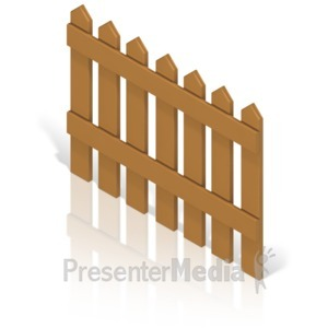 ID# 17366 - Picket Fence Color Back - Presentation Clipart