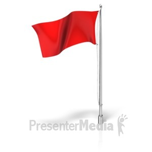 ID# 17381 - Flag on a Flagpole - Presentation Clipart