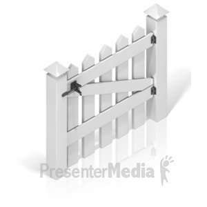 ID# 17388 - Picket Fence Gate Back - Presentation Clipart
