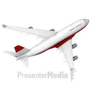 ID# 17440 - Airliner Flying Away Isometric - Presentation Clipart