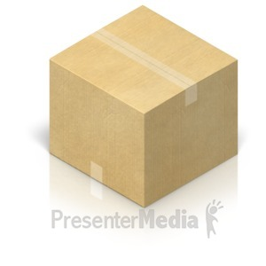 ID# 17464 - Shipping Box Closed - Presentation Clipart