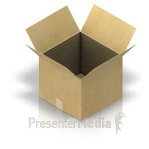 ID# 17465 - Shipping Box Open - Presentation Clipart