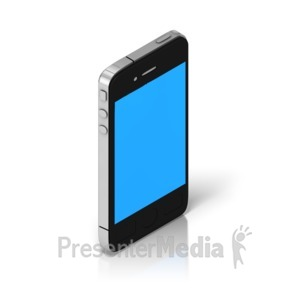 ID# 17468 - Smart Phone Isometric - Presentation Clipart