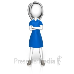 ID# 17483 - Power Stance Woman - Presentation Clipart