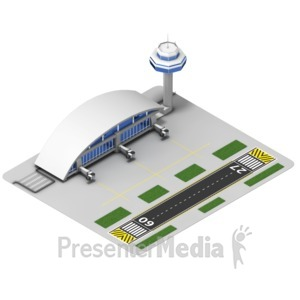 ID# 17513 - Airport Isometric - Presentation Clipart