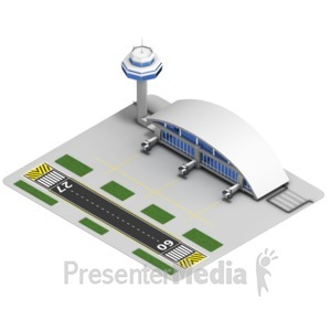 ID# 17514 - Airport Isometric - Presentation Clipart
