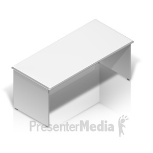 ID# 17524 - Desk Isometric Back - Presentation Clipart