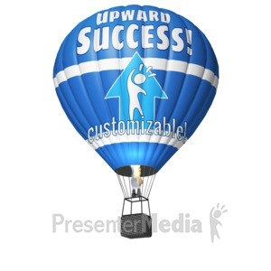 ID# 17552 - Hot Air Balloon Custom - Presentation Clipart