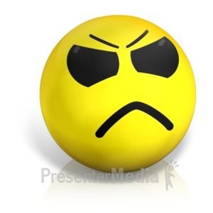 ID# 17571 - Angry Emotion Ball - Presentation Clipart