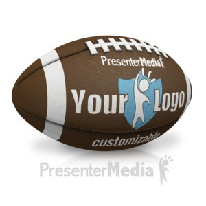 ID# 17596 - Single Custom Football - Presentation Clipart