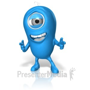 ID# 17675 - Happy Character Pointing - Presentation Clipart