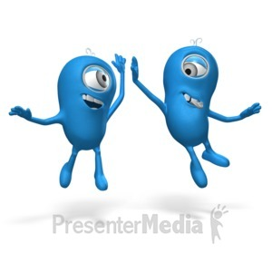 ID# 17677 - High Five Me Man - Presentation Clipart