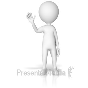 ID# 17727 - Figure Waving Gesture Pose - Presentation Clipart