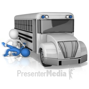 ID# 17730 - Being Thrown Under The Bus - Presentation Clipart