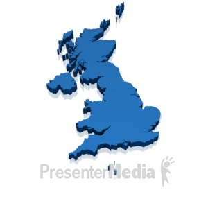 ID# 17739 - Uk 3d Map - Presentation Clipart