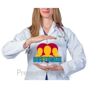 ID# 17764 - Medical Worker Hands Around Custom - Presentation Clipart