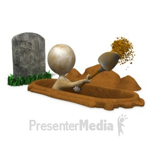 ID# 17792 - Digging Your Own Grave - Presentation Clipart