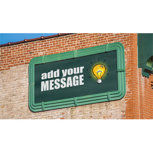 ID# 17793 - Old Billboard On Brick Wall Custom - Presentation Clipart