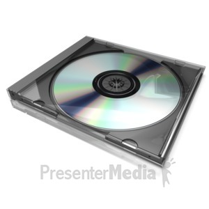 ID# 17842 - Cd Case Display - Presentation Clipart