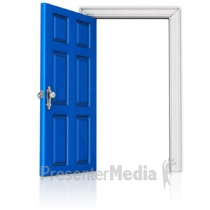 ID# 17850 - Door that is Open - Presentation Clipart
