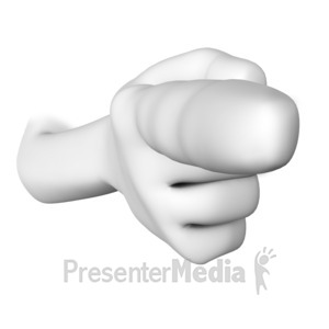 ID# 17861 - A Hand with Finger Pointing - Presentation Clipart