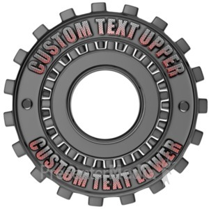 ID# 17868 - Custom Gear Ring - Presentation Clipart