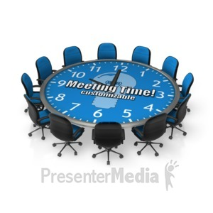 ID# 17951 - Round Meeting Table Custom - Presentation Clipart