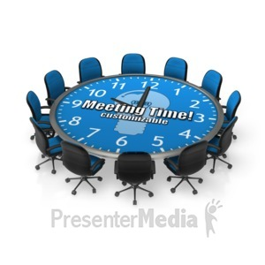 ID# 17952 - Round Meeting Table Custom - Presentation Clipart