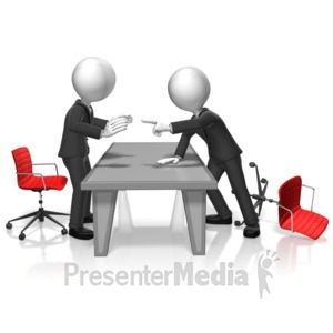 ID# 17988 - Businessmen Argument - Presentation Clipart