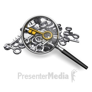 ID# 18023 - Searching For Standout Key - Presentation Clipart