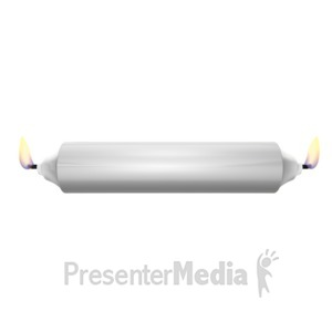 ID# 18084 - Burning the Candle On Both Ends - Presentation Clipart