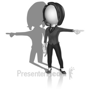 ID# 18092 - Shadow Pointing Opposite - Presentation Clipart