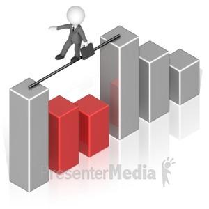 business woman tightrope graph presentation clipart great rh presentermedia com Teamwork Clip Art Graphics for Business Presentations