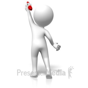 ID# 18150 - Figure Reaching Up Pen - Presentation Clipart