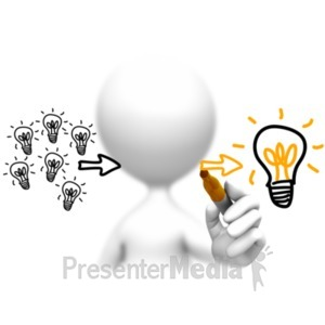 ID# 18190 - Lots Of Ideas One Winner - Presentation Clipart