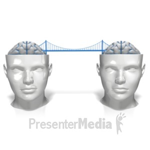 ID# 18253 - Bridging The Minds - Presentation Clipart