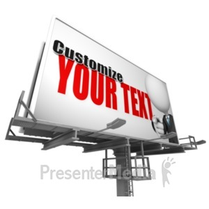 ID# 18276 - Custom Billboard Low Angle - Presentation Clipart