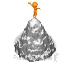 ID# 18341 - Figure On Mountaintop - Presentation Clipart
