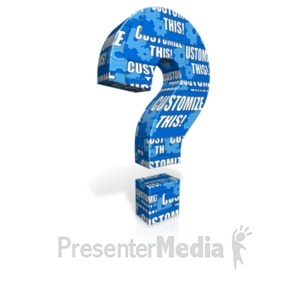 ID# 18346 - Question Mark Custom - Presentation Clipart