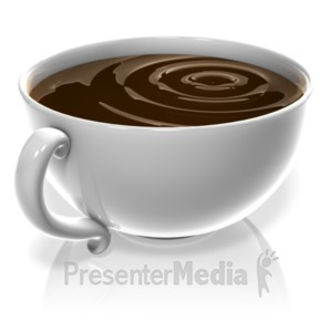 ID# 18364 - Cup Of Coffee - Presentation Clipart