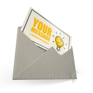 ID# 18423 - Card Envelope Custom - Presentation Clipart