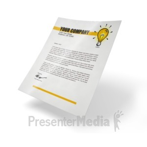 ID# 18427 - Simple Paper - Presentation Clipart