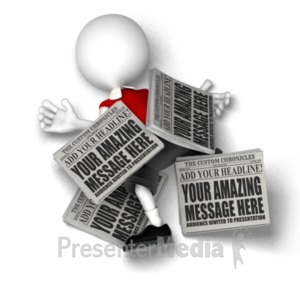 ID# 18519 - Overwhelming News - Presentation Clipart