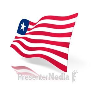 Figure Waving Surrender Flag