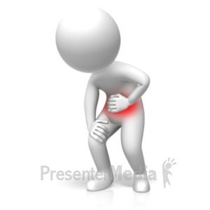 ID# 18542 - Standing Stomach Problems - Presentation Clipart