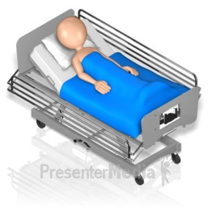 ID# 18592 - Figure Hospital Bed Isometric - Presentation Clipart